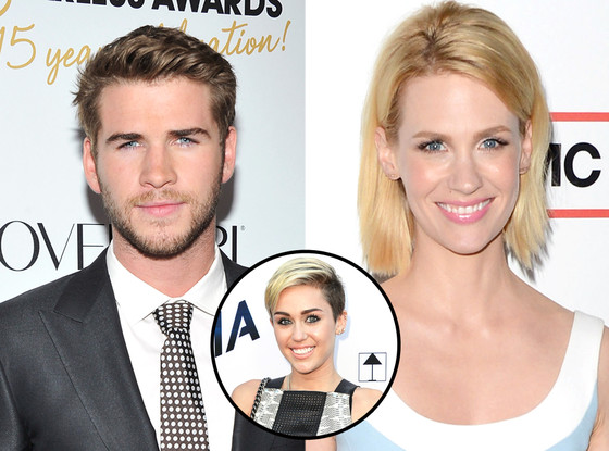 Liam Hemsworth, Miley Cyrus, January Jones