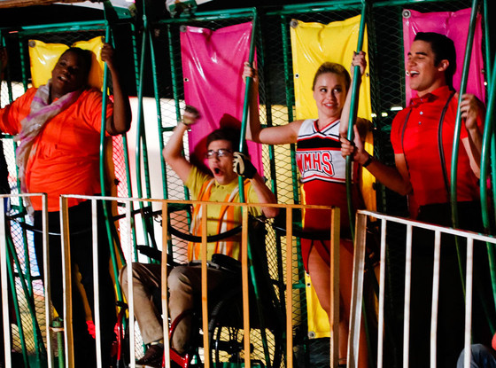 Glee, Alex Newell, Kevin McHale, Becca Tobin, Darren Criss