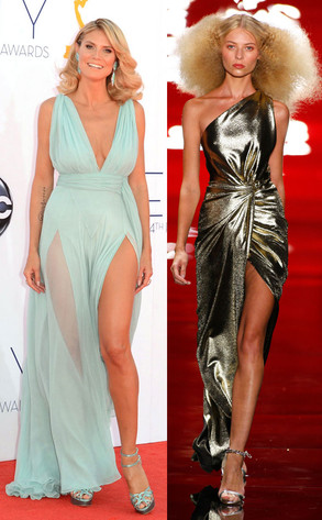 Emmy Awards, Heidi Klum, Reem Acra Model