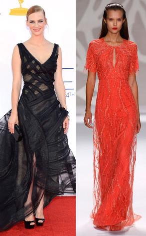 Emmy Awards, January Jones, Monique Lhuillier Model