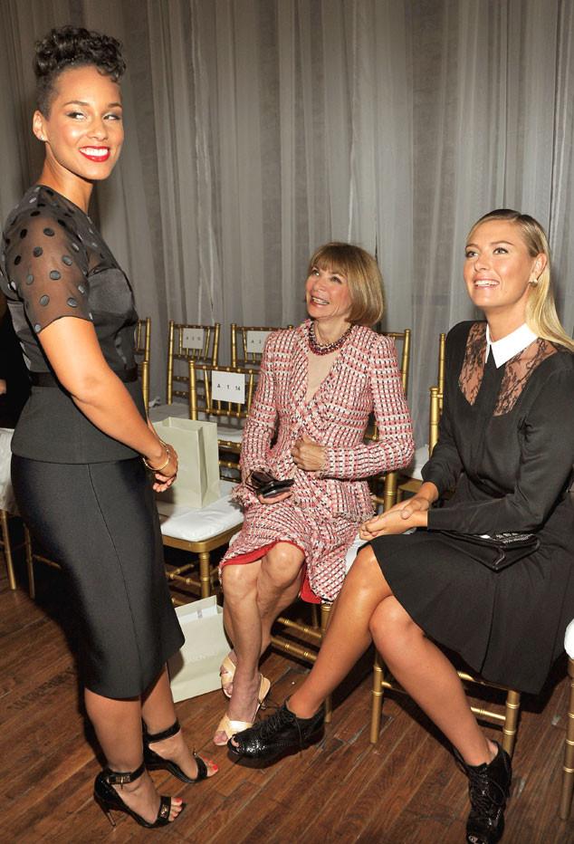 Alicia Keys, Anna Wintour, Maria Sharapova