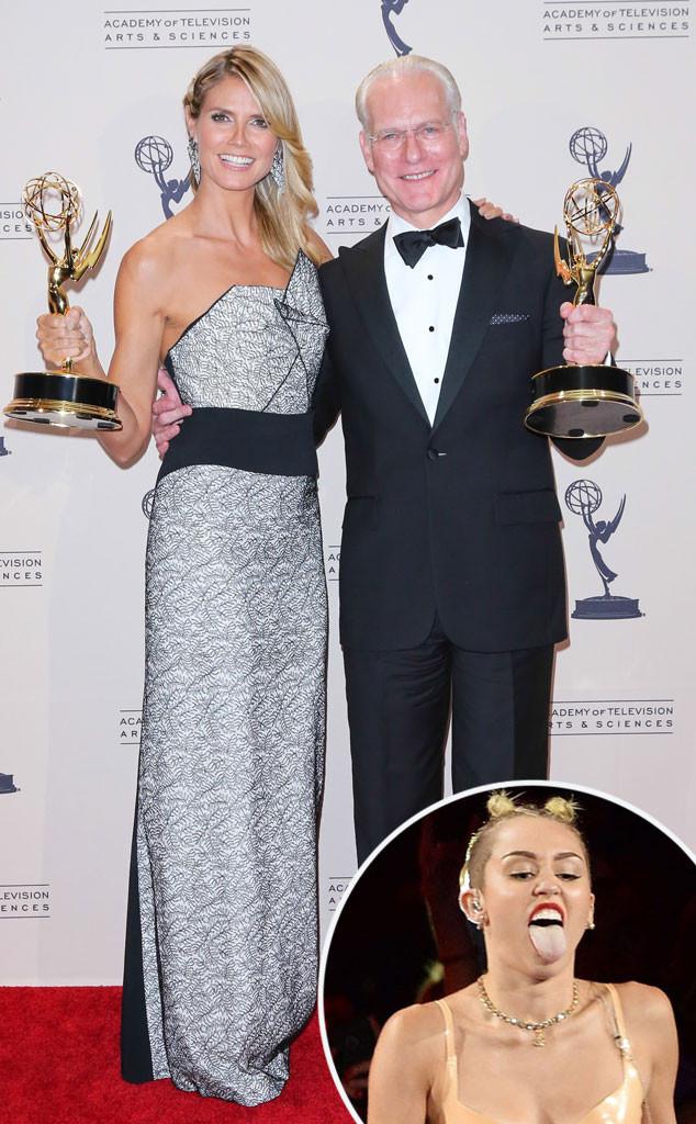 Heidi Klum, Tim Gunn, Miley Cyrus