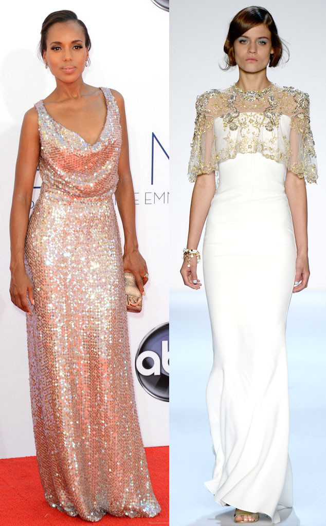 Emmy Awards, Kerry Washington, Badgley Mischka