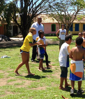 Beyoncé em Trancoso, Bahia, no Brazil