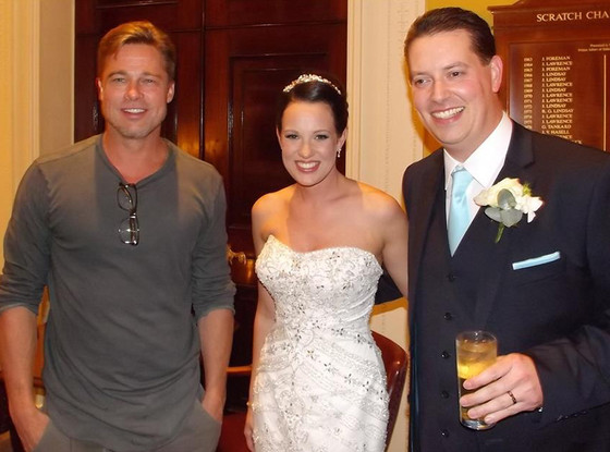Brad Pitt, Abi Lingwood, Wedding