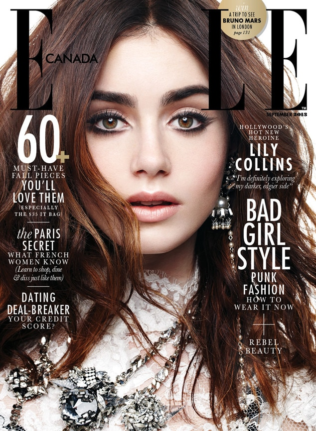 Lily Collins, Elle Canada from 2013 September Issues | E! News