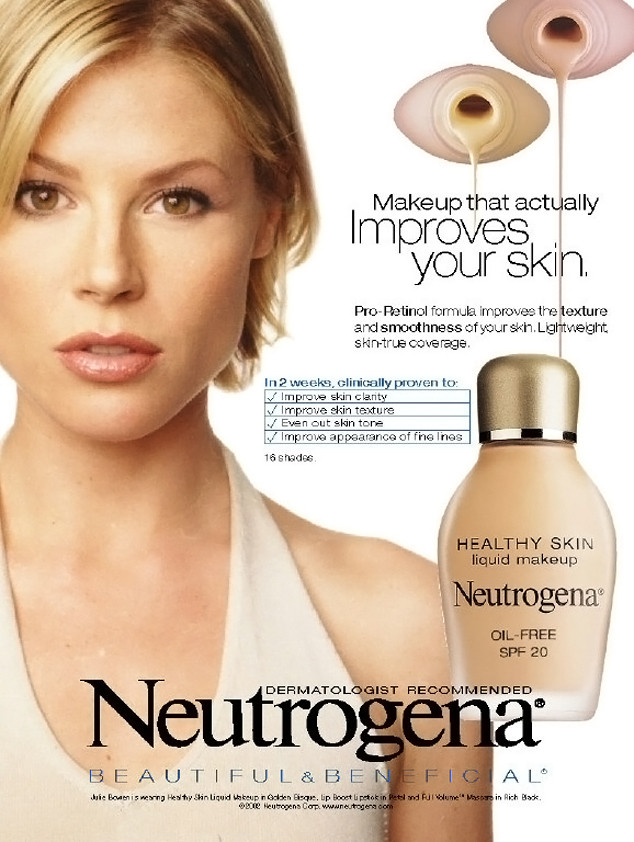julie bowen becomes face of neutrogena again modern family. Black Bedroom Furniture Sets. Home Design Ideas
