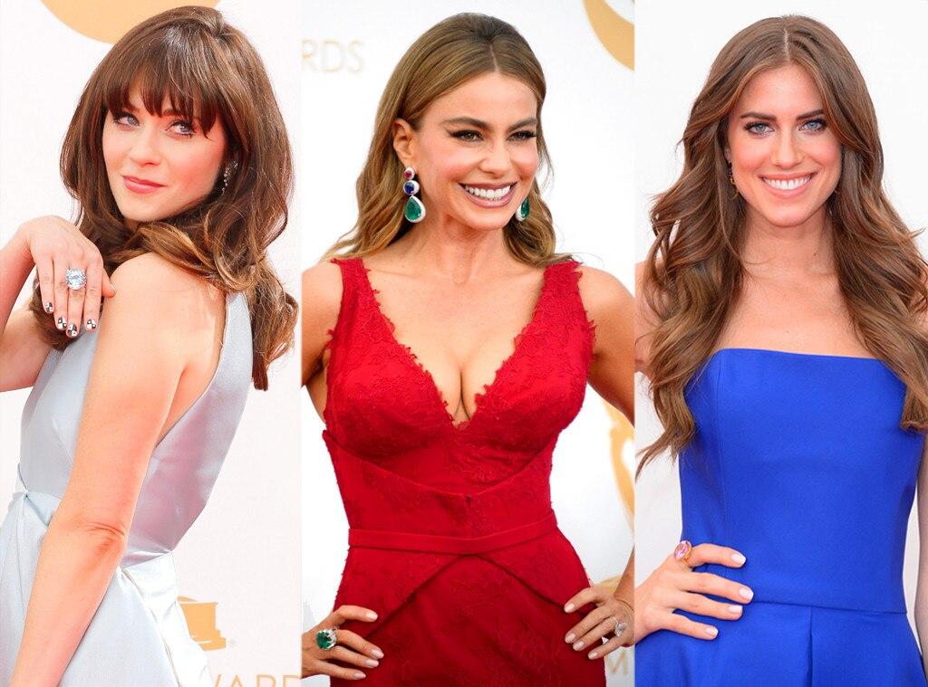 Zooey Deschanel, Sofia Vergara, Allison Williams, Emmy Awards, 2013