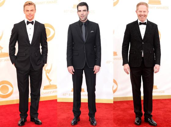 Derek Hough, Jesse Tyler Ferguson, Zachary Quinto, Emmy Awards, 2013