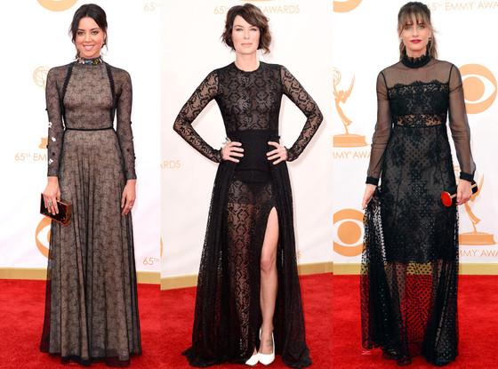 Black Lace Trend, Emmy Awards 2013