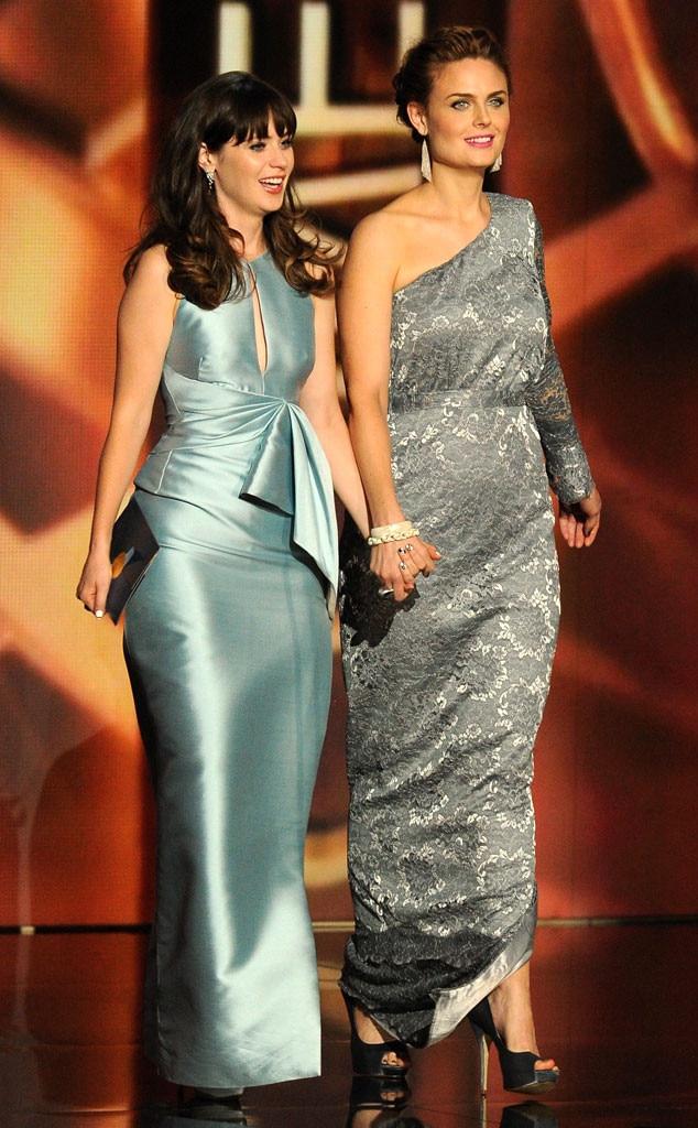 Emmy Awards Show, Zooey Deschanel, Emily Deschanel