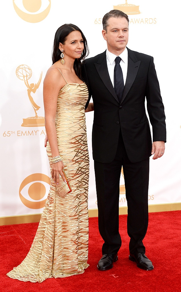 Matt Damon, Luciana Barroso, Emmy Awards, 2013
