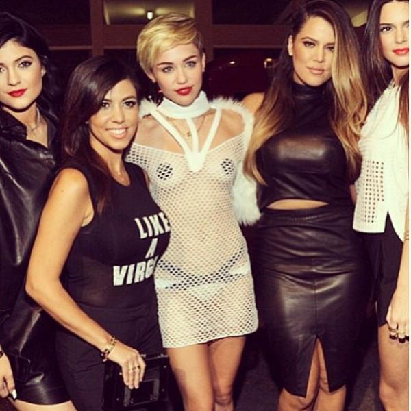 Kylie Jenner, Kourtney Kardashian, Miley Cyrus, Khloe Kardashian, Kendall Jenner