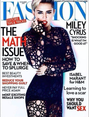 Miley Cyrus, Fashion Magazine