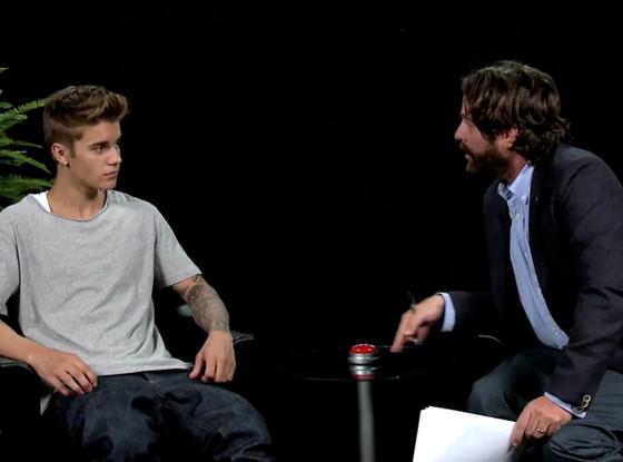 Justin Bieber, Zach Galifianakis, Funny or Die