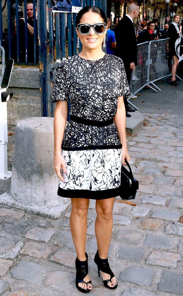 Salma Hayek, Paris Fashion Week