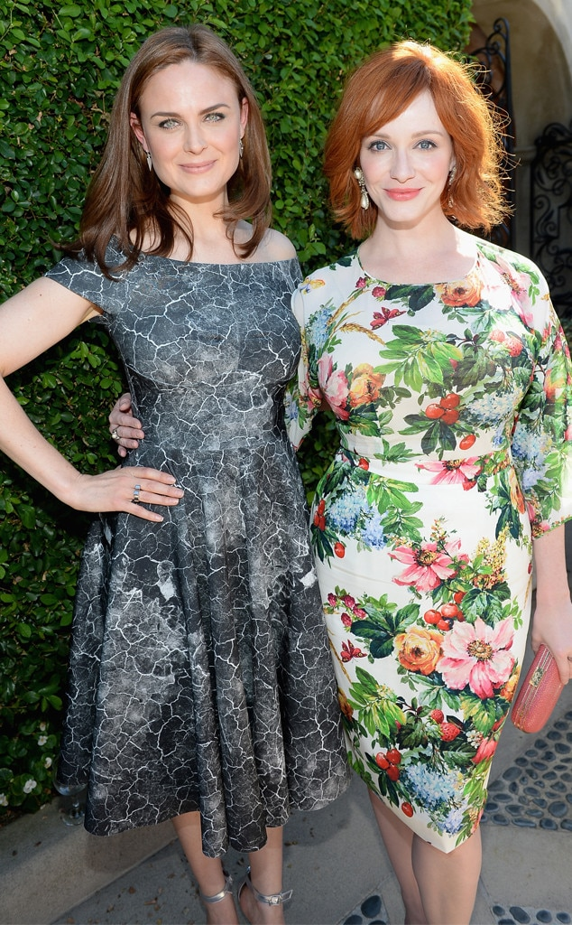 Emily Deschanel, Christina Hendricks