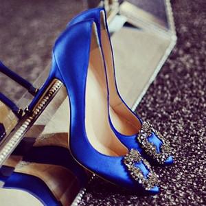 Manolo Blahnik blue shoe from Carrie Bradshaw