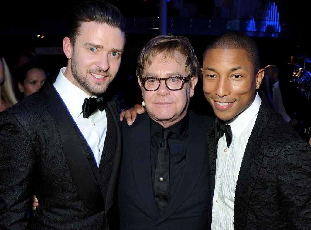 Justin Timberlake, Sir Elton John, Pharrell Williams, GQ Men of the Year Awards
