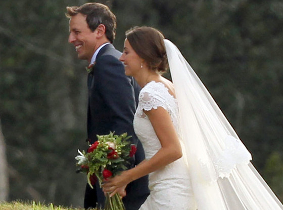 Seth Meyers, Alexi Ashe, Wedding