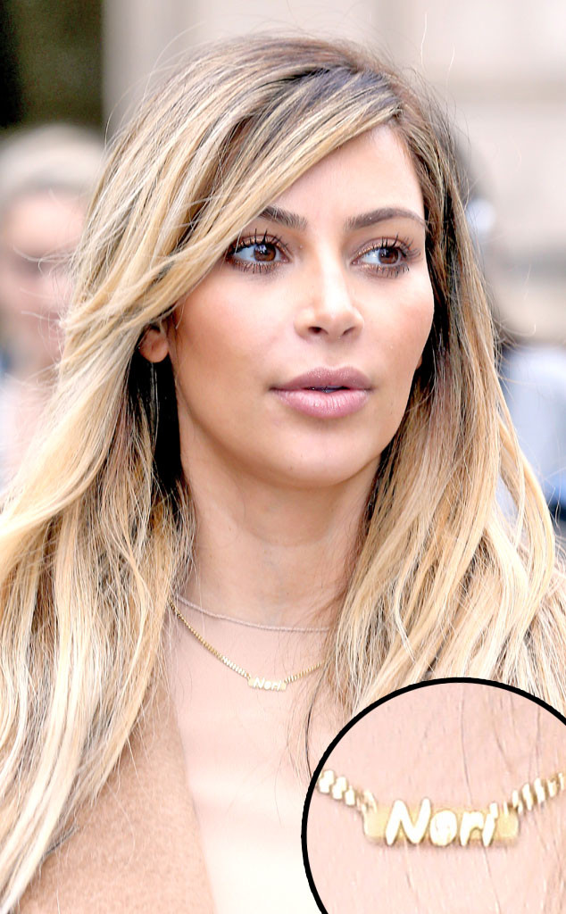 Gold Chain Necklace Kim Kardashian