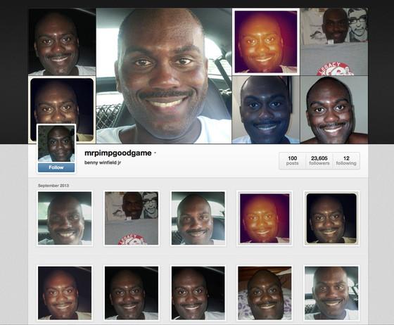 mrpimpgoodgame, Benny Winfield Jr, Instagram