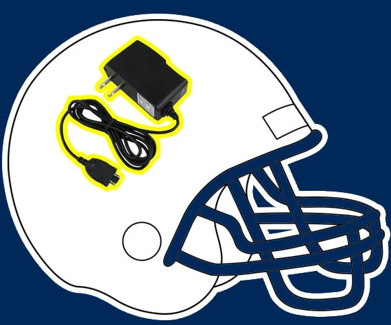 San Diego Chargers Helmets: San Diego Chargers From Literal NFL Helmets