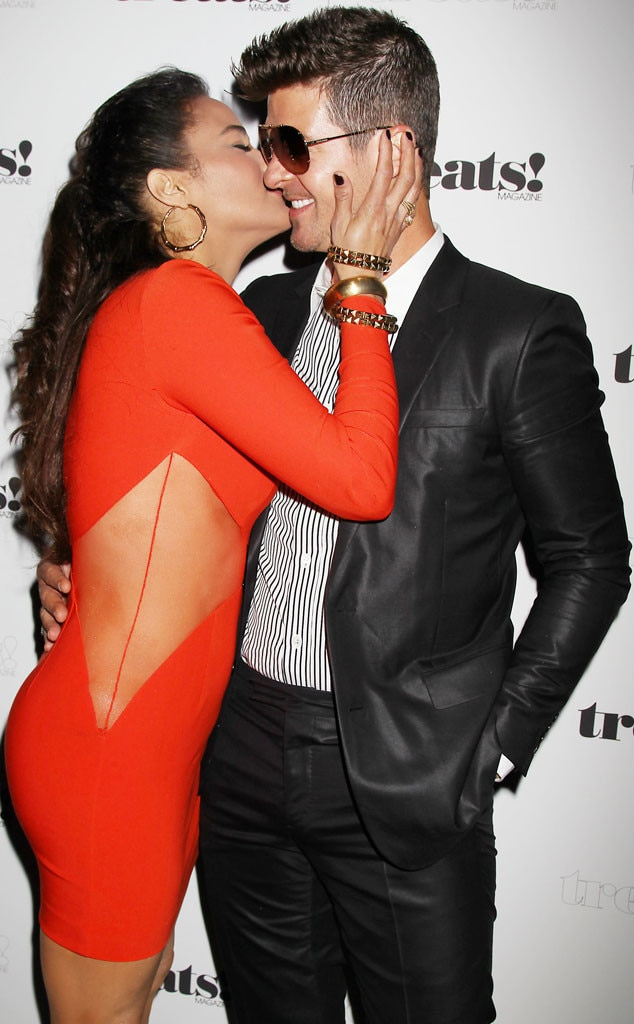 Robin thicke dating history