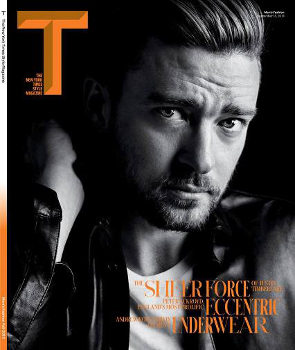 Justin Timberlake, portada