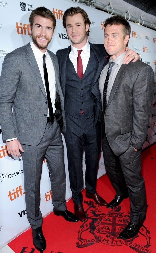 Liam Hemsworth, Chris Hemsworth, Luke Hemsworth