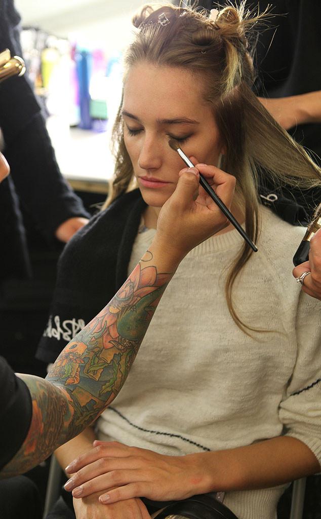 Herve Leger, Backstage, New York Fashion Week
