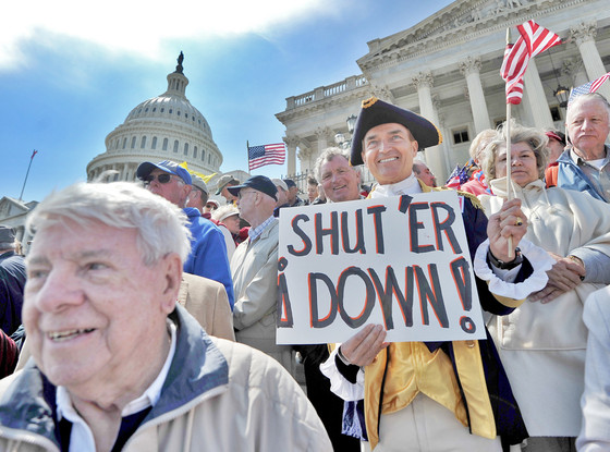 Washington DC, Capitol Hill, Protesters