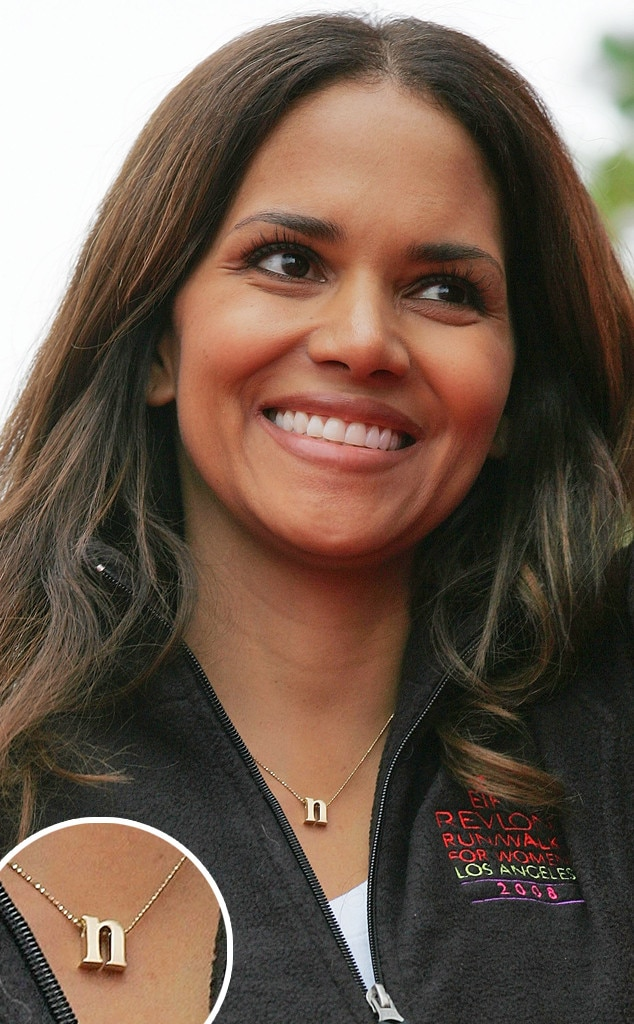 Nameplate Necklaces, Halle Berry