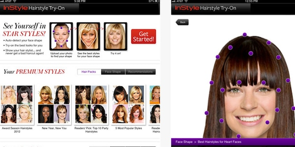 InStyle Hairstyle Try-On from Best Trend Apps for iPhone | E! News