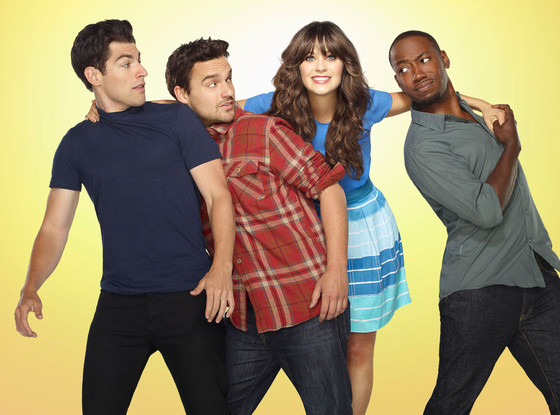 New Girl, Max Greenfield, Zooey Deschanel, Jake Johnson, Lamorne Morris