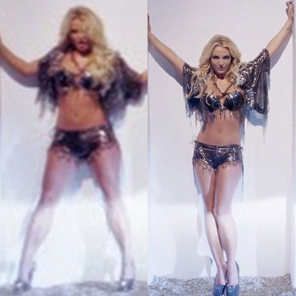 Britney Spears, Photoshop Video Grabs