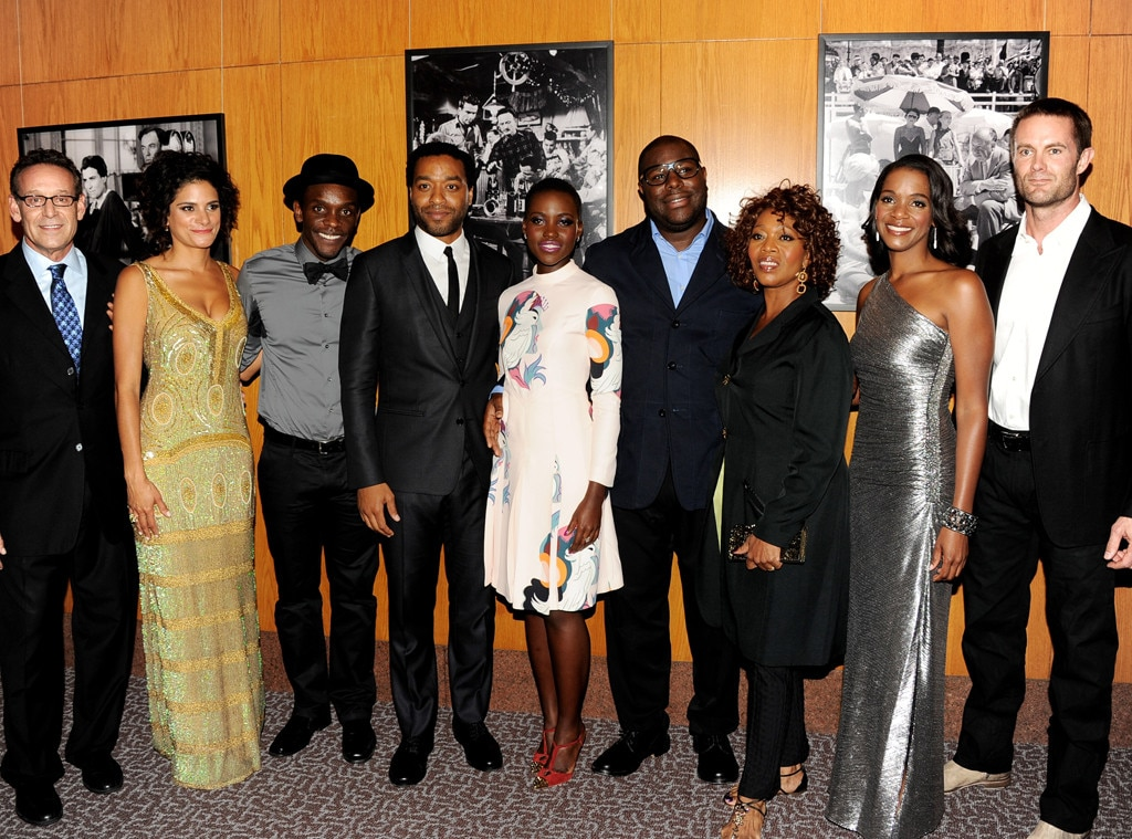 12 Years a Slave Cast, Rob Steinberg, Ashley Dyke, Chris Chalk, Chiwetel Ejiofor, Lupita Nyong'o, Steve McQueen, Alfre