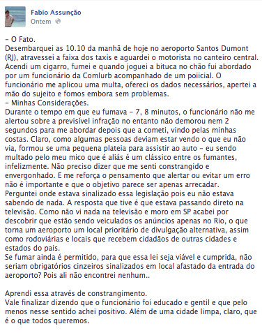 Fábio Assunção Facebook