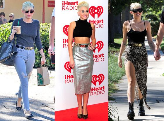 Miley Cyrus, Moschino Belt