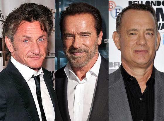 Tom Hanks, Sean Penn, Arnold Schwarzenegger