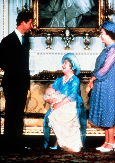 Royal Christening, Prince William, Queen Elizabeth, Queen Mother, Prince Charles, Princess Diana
