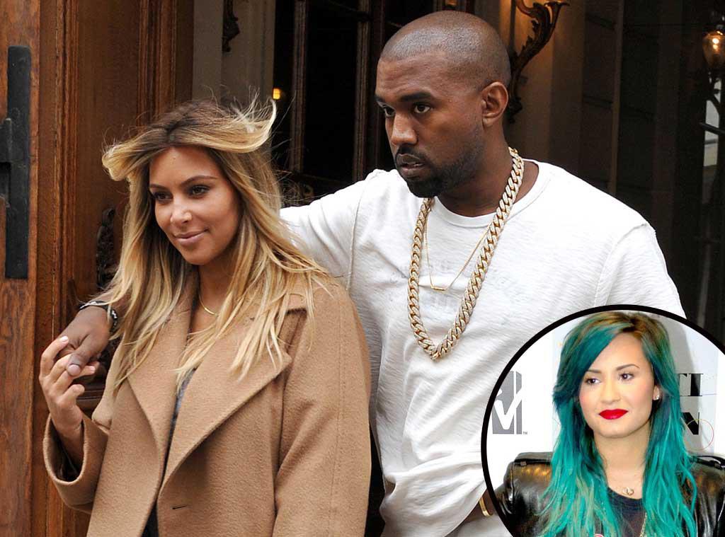 Kim Kardashian, Kanye West, Demi Lovato