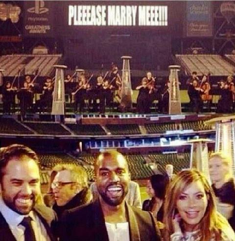 Kim Kardashian, Kanye West, noivado Kardashian e Kanye West