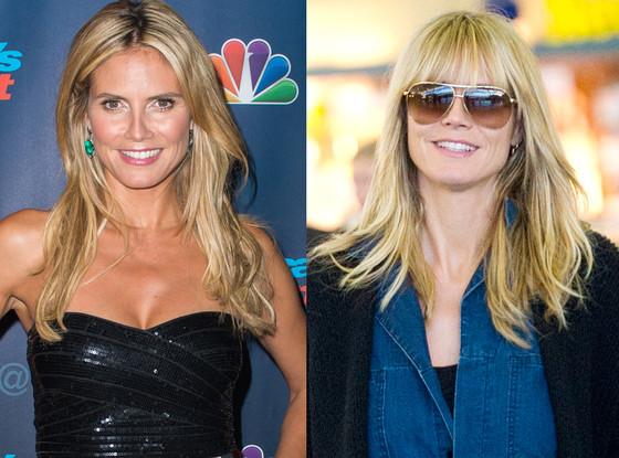Umfrage Wie Gefällt Euch Heidi Klums Neue Pony Frisur E News