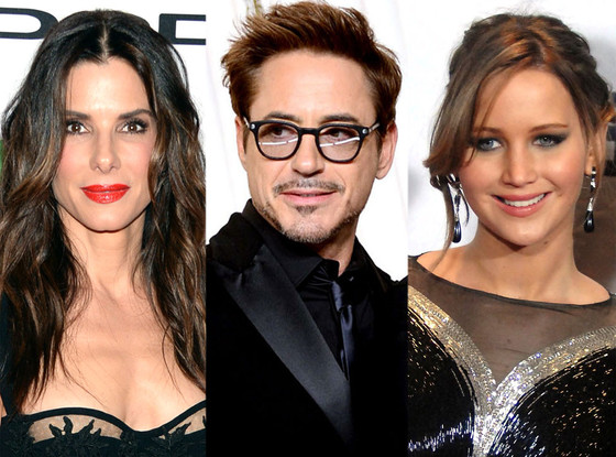 Sandra Bullock, Robert Downey Jr., Jennifer Lawrence