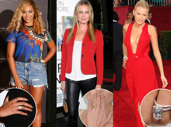 Beyonce, Rebecca Romijn, Blake Lively, Engagement Ring