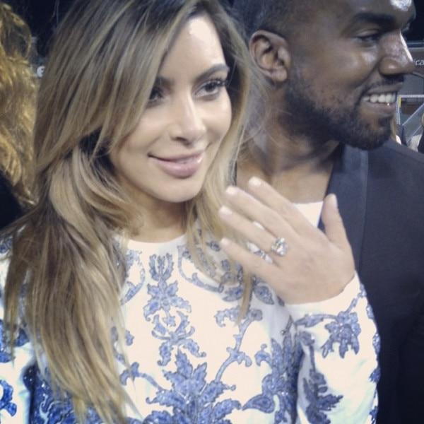 Kim Kardashian, Kanye West, Instagram, Engagement Ring