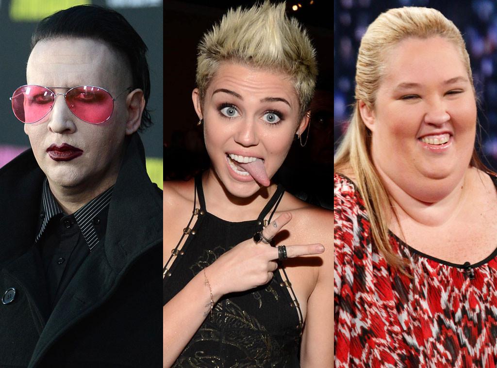Marilyn Manson, Miley Cyrus, Mama June Shannon