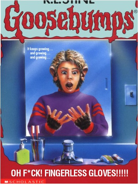 Oh F Ck Fingerless Gloves From Literal Goosebumps Covers