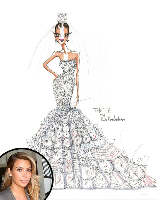 Kim Kardashian, Theia Bridal Dress
